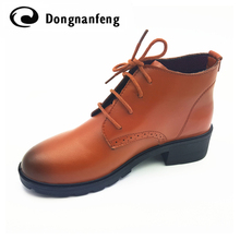 New Women's Shoes Woman Lace-Up Oxford Shoes Platform Zapatos Hombre Chaussure Homme Creepers Ladies Shoes Flats 2017 .DNF6251