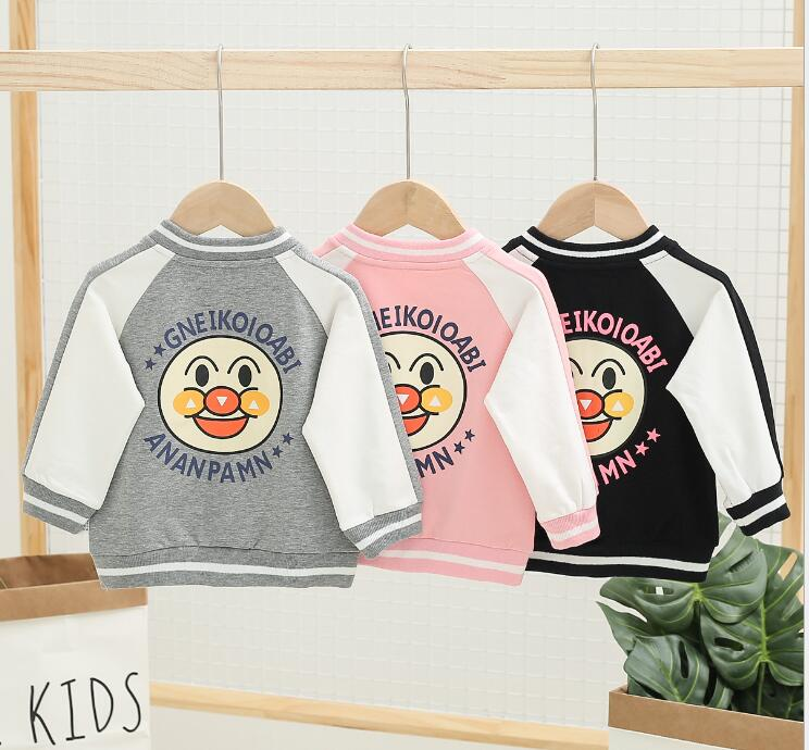 Clothing Jacket Baseball-Uniform Girls Baby Cartoon Children's Male Foreign Cute