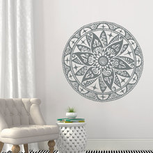 Mandala Decals Transformation Vinyl Sticker Bedroom Lotus Flower Wall Boho Indian Decor Yoga Buddha Stickers MT10