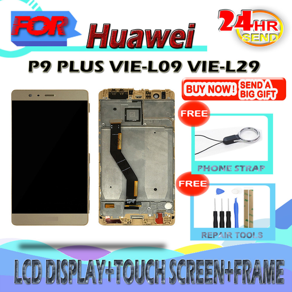 SZHAIYU AMOLED LCD For Huawei P9 Plus VIE-L09 VIE-L29 OLED LCD Display Touch Screen Digitizer Screen with Tools And StrapSZHAIYU AMOLED LCD For Huawei P9 Plus VIE-L09 VIE-L29 OLED LCD Display Touch Screen Digitizer Screen with Tools And Strap