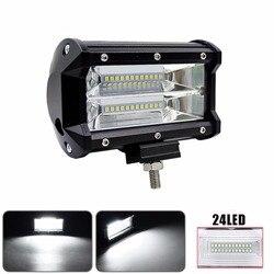 Светодио дный Автомобильный светодиодный свет Offroad 5 дюймов 72 Вт светодио дный светодиодный рабочий свет бар прожектор 12 В в В 24 В автомобиль...