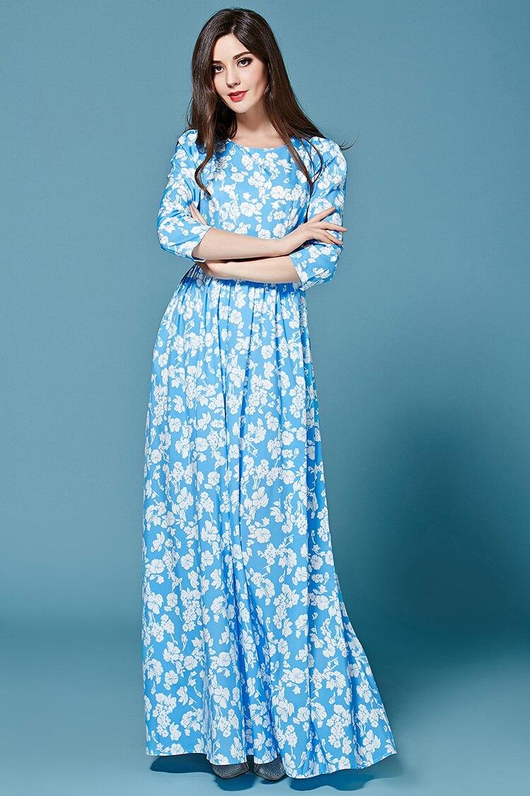 Длинное платье с рукавами 3 4