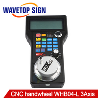 CNC Handwheel Studio Wireless Mach3 MPG Pendant Handwheel for 3,4 axis Milling Machine Hand Wheel Controller HB04 WHB04 L