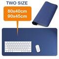 Grande Mouse Pad, Extensão Mesa de couro Almofada Mouse Pad Gaming Mouse Pad Tapete de Mesa de Escritório (Azul Vermelho Preto)