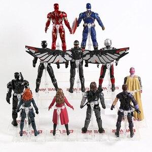 Image 5 - נוקמי איש ברזל קפטן אמריקה Ant Man האלק ספיידרמן שחור אלמנה פנתר סקרלט מכשפה ראיית תאנסו פעולה איור צעצוע