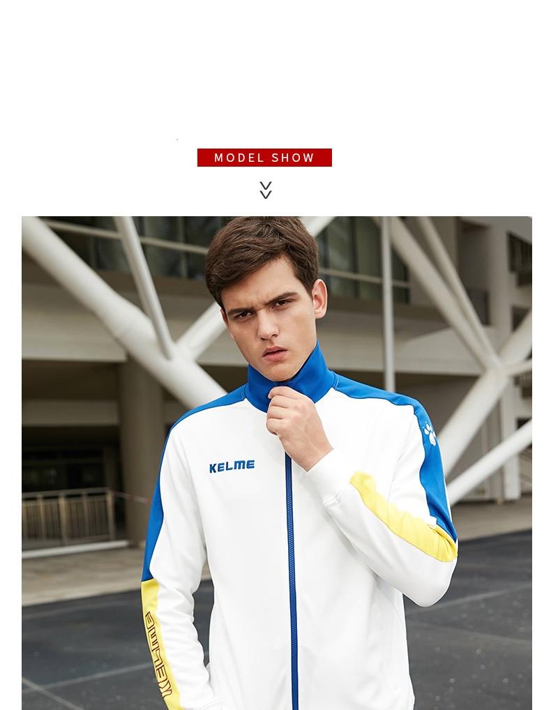 Kelme masculino casaco de exercício esportivo jaqueta