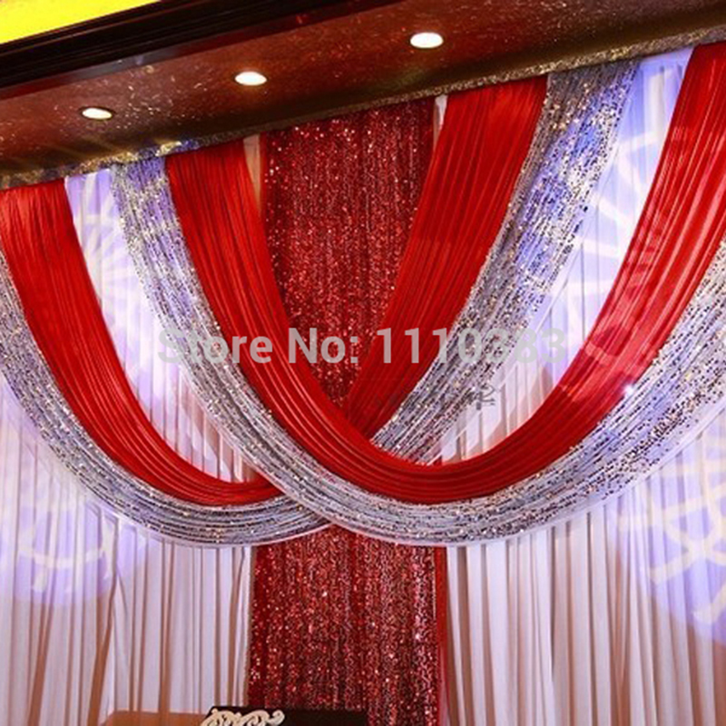3M*6M Free Shipping Best Quality red Color shinning material red wedding backdrop wedding curtains stage backdrop decoration3M*6M Free Shipping Best Quality red Color shinning material red wedding backdrop wedding curtains stage backdrop decoration