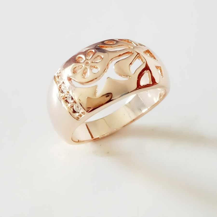 0a654a77468a Новое поступление женские кольца 585 цвета розового золота женские  украшения модные новые модные цветочные формы белые