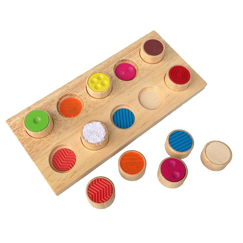 Wooden Blocks Shape Jointed Board Memory Contact Flip Colorful Toys Kids Learning Educational Toy Sensory