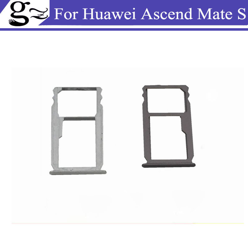Original for Huawei Ascend Mate S SIM Card Tray Holder With Micro SD Card Tray Slot Holder Metal Parts Dust plug