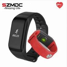 Szmdc Фитнес Tracker браслет Heart Rate Мониторы Smart Band F1 SmartBand Приборы для измерения артериального давления с Шагомер Браслет