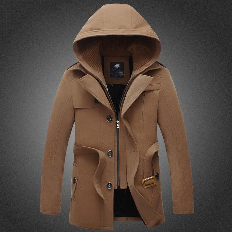 Online Get Cheap Long Black Trench Coat Men -Aliexpress ...   Mens Trench Coat With Hood