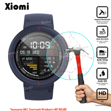 Anti-Shatter For Xiaomi Huami AMAZFIT Verge 3 NFC Sport Smart Watch Tempered Glass Protective Film Guard Screen Protector-! premium tempered glass screen watch protective film for fitbit blaze 9h 2 5d anti shatter tempered watch protective film