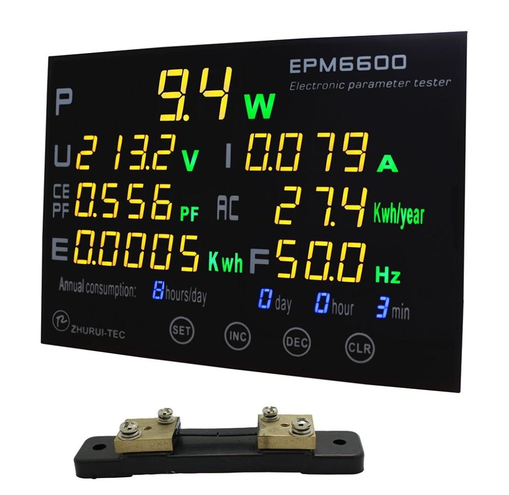 EPM6600 300V/30A/9kw AC single fase electrical parameter tester/ kwh meter /energy meter  measuring ac millivoltmeter rvt 322 measuring instrument withstand voltage tester pressure hipot tester resistance electronics parameter