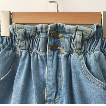 Summer High Waist Denim Shorts Women   2