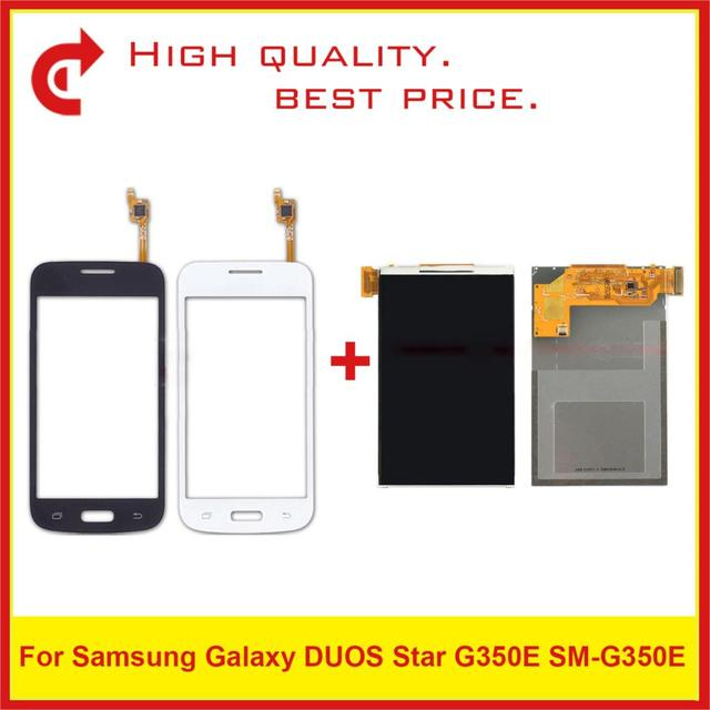 ЖК дисплей 4,3 дюйма для Samsung Galaxy DUOS Star 2 Plus SM G350E G350E с сенсорным экраном и цифровым преобразователем