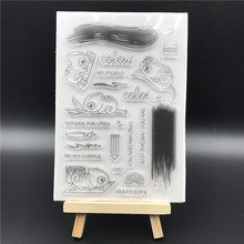 Colour Transparent Clear Silicone Stamps for DIY Scrapbooking/Card Making/Kids Christmas Fun Decoration Supplies A619