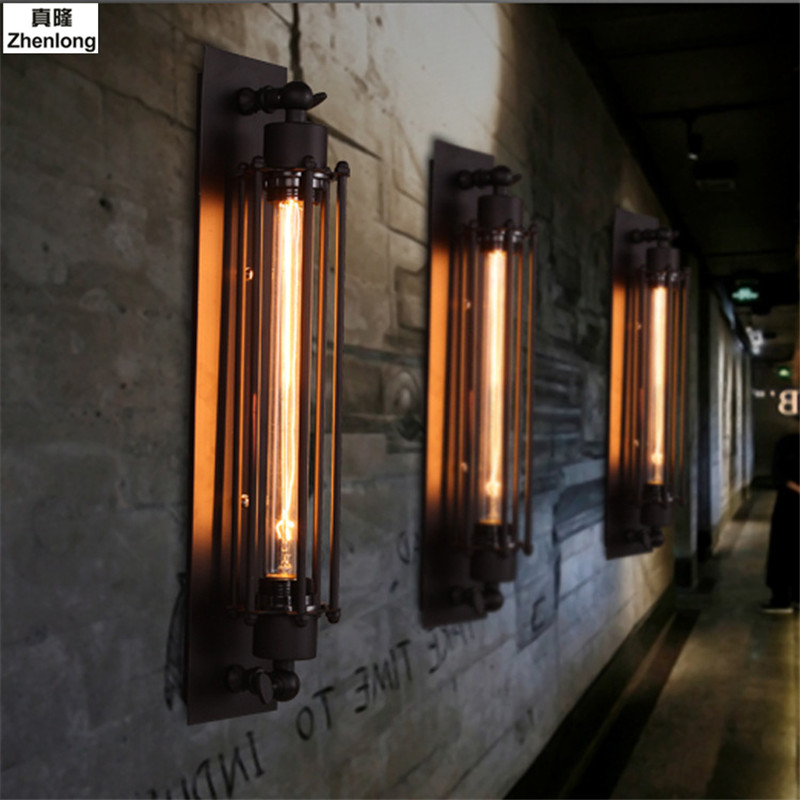 Wall Lamp American Retro Country Loft Style LED Lamps Industrial Vintage Iron Wall Light for Bar Cafe Home Lighting Aisle LED