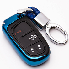 KUKAKEY TPU Car Key Case Cover For JEEP Grand Cherokee Dodge JCUV dart Journey Chrysler 300C Fiat Auto Accessories