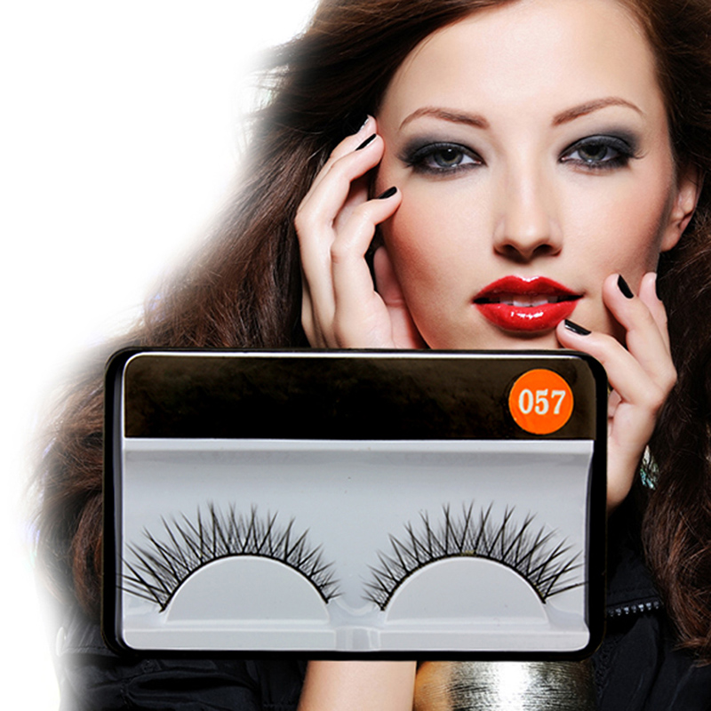 Beautiful Women Makeup False Eyelashes 1 Pairs Eye Lashes Natural Thin Criss cross Fake Black Charming Long Eyelashes TN