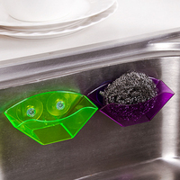 Double Suction Cup Sink Sponge Holder   Kitchen   Utensils Drying Rack   Storage   Organizer   Kitchen   Accessories Tool Sponge