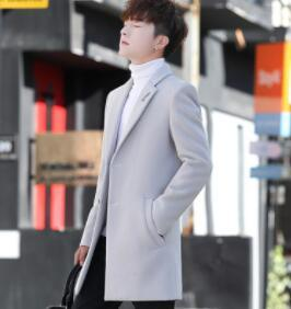 Winter Men's Wool Overcoat...