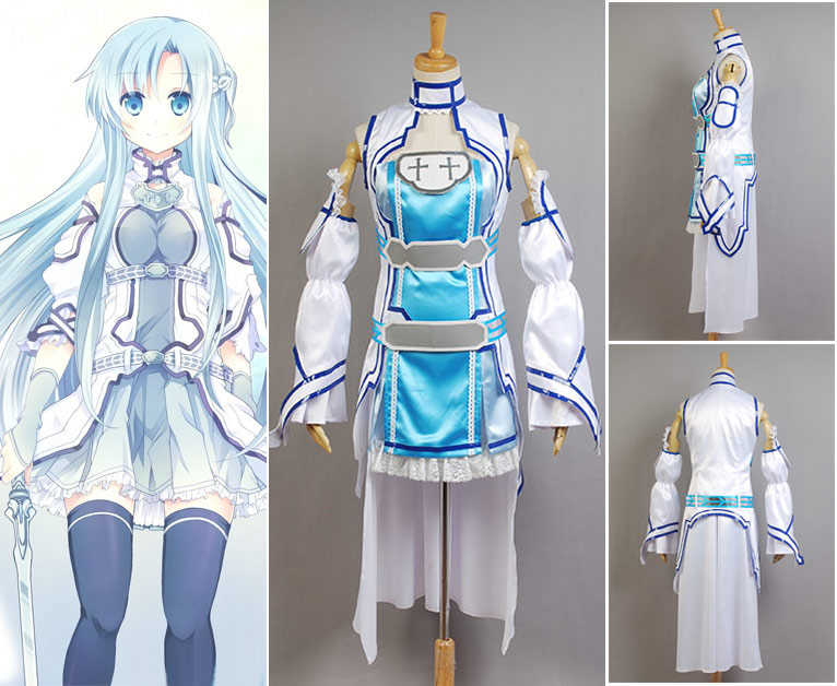 Original Sword Art Online Alfheim Online Asuna Yuki Cosplay Costume Suit Custom Made Real 100% Outfit  Anime For Halloween