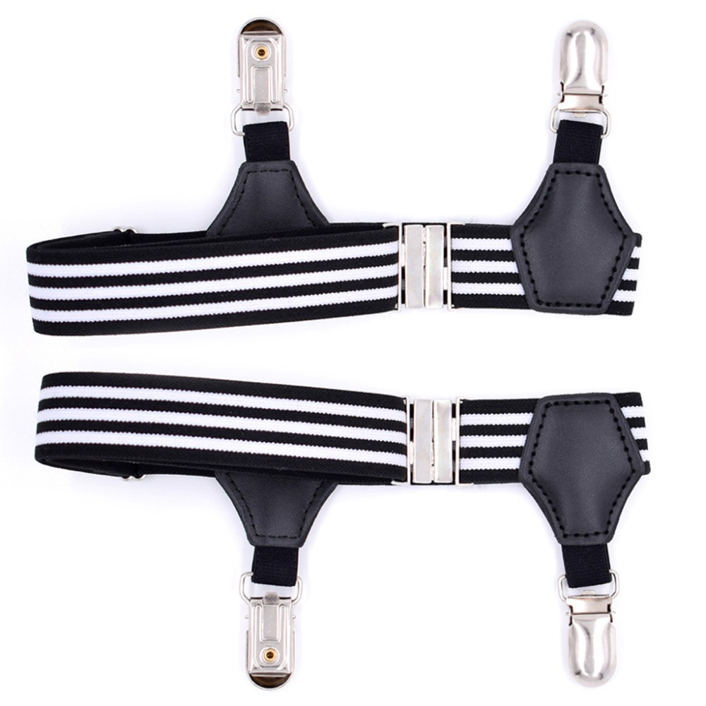 2Pcs Men Double Sturdy Clip Sock Suspenders Elastic Garter Braces Adjustable New 2018