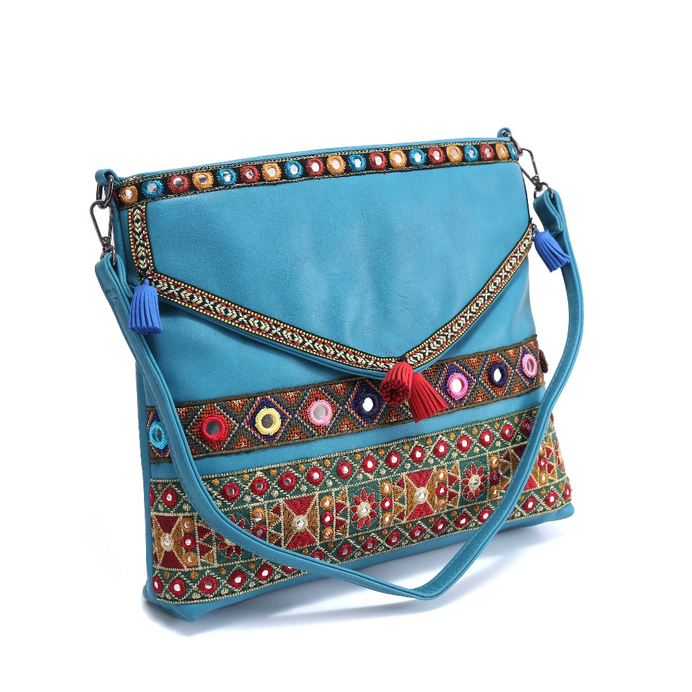 5aa90da3f3 Detail Feedback Questions about Bohemian hippies vintage handbag handmade  shoulder bag tassels national Sequined embroidery ethnic shoulder bag drop  ...