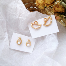 Ms fashion pearl earring delicate contracted water droplets earrings wholesale womanhood, a lovely girl