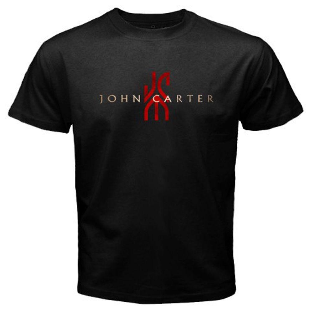 New JOHN CARTER Movie Show Logo Mens Black T-Shirt Size S M L XL 2XL 3XL