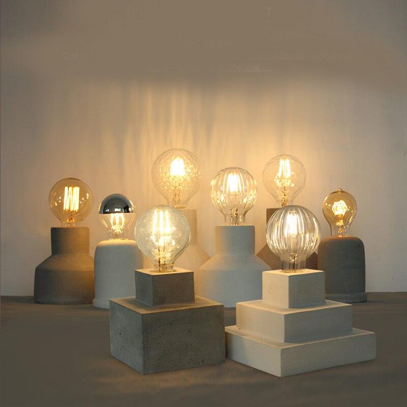 석고 콘크리트 램프 홀더 실리콘 금형 커피 숍 의류 숍 바 연구 홈 장식 시멘트 램프 금형-에서점토 몰드부터 홈 & 가든 의  그룹 1