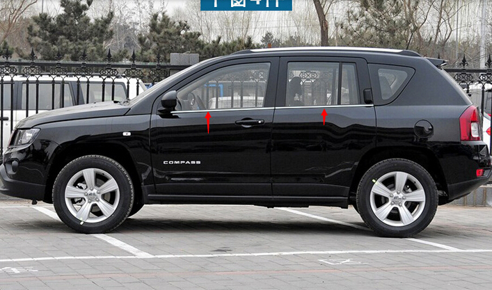 for Jeep compass 2011 2012 2013 2014 2015 Stainless Steel ...