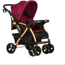 Two way push high landscape baby stroller with adjustable conapy and suspension wheels
