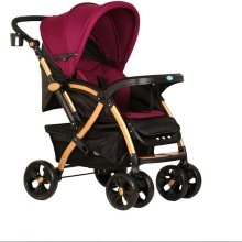 Two way push high landscape baby stroller,with adjustable conapy and suspension wheels