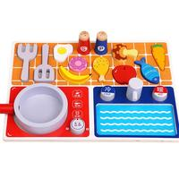 Wooden Toys kitchen Gas Stove Toy Children's Play House Toys Puzzle Early Education Aid Gifts For Children Learning