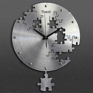 Particulier salon horloge murale mode grande montre de poche en métal art gear horloge murale pendule horloge design moderne