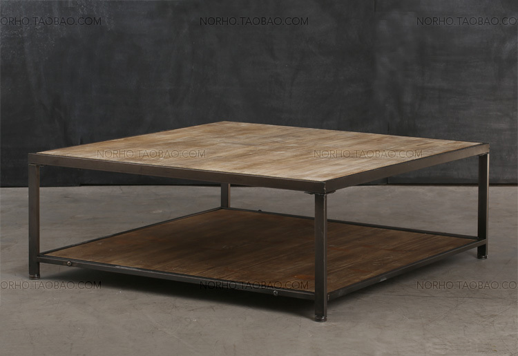 american country to do the old wrought iron wood coffee table