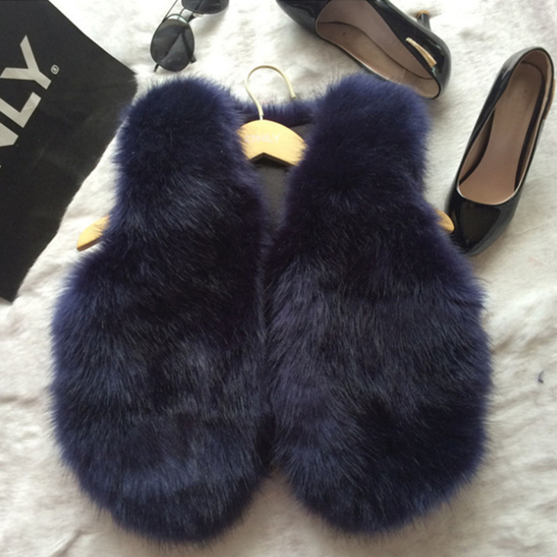 Imitation Fox Faux Fur Vest Women Cheap Winter Mink Coats ...