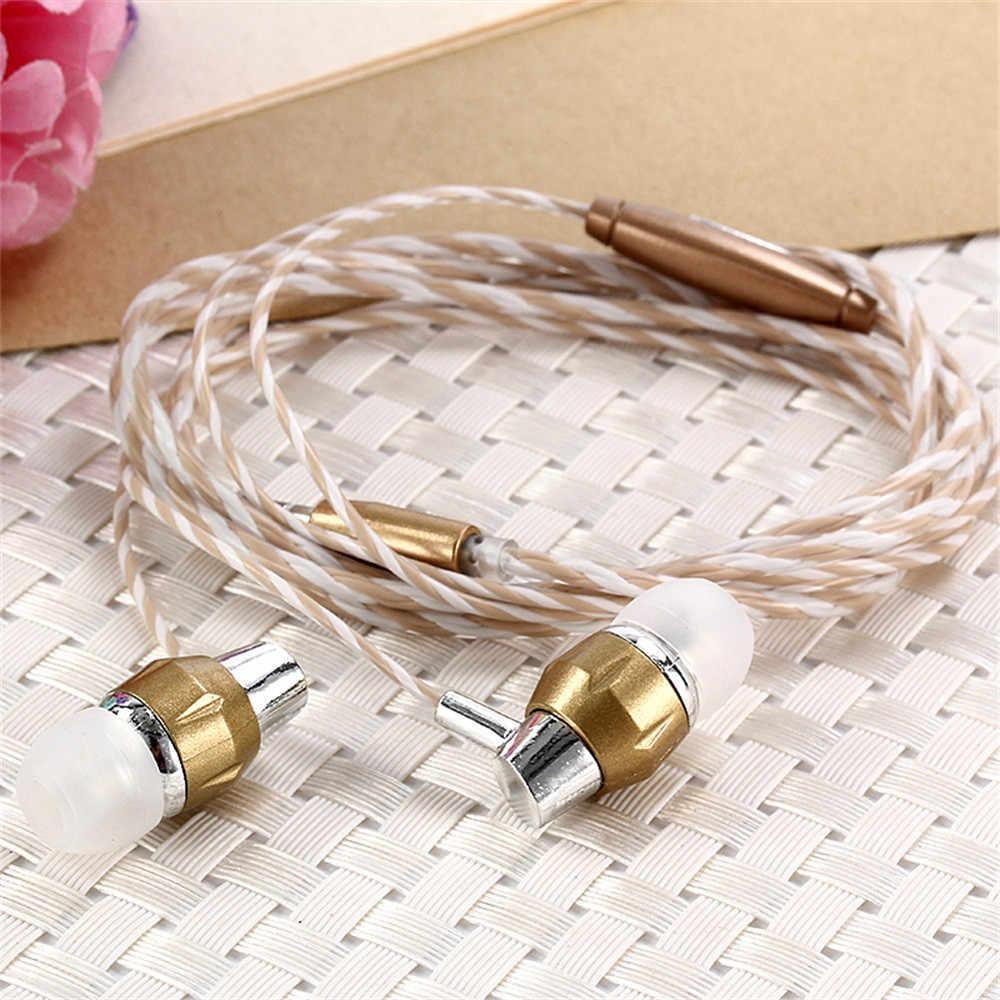 Универсальные 3,5 мм наушники-вкладыши стерео наушники с микрофоном для телефонных звонков Hands free MP3 MP4 музыкальные стерео-наушники ST05 #3 $0,9
