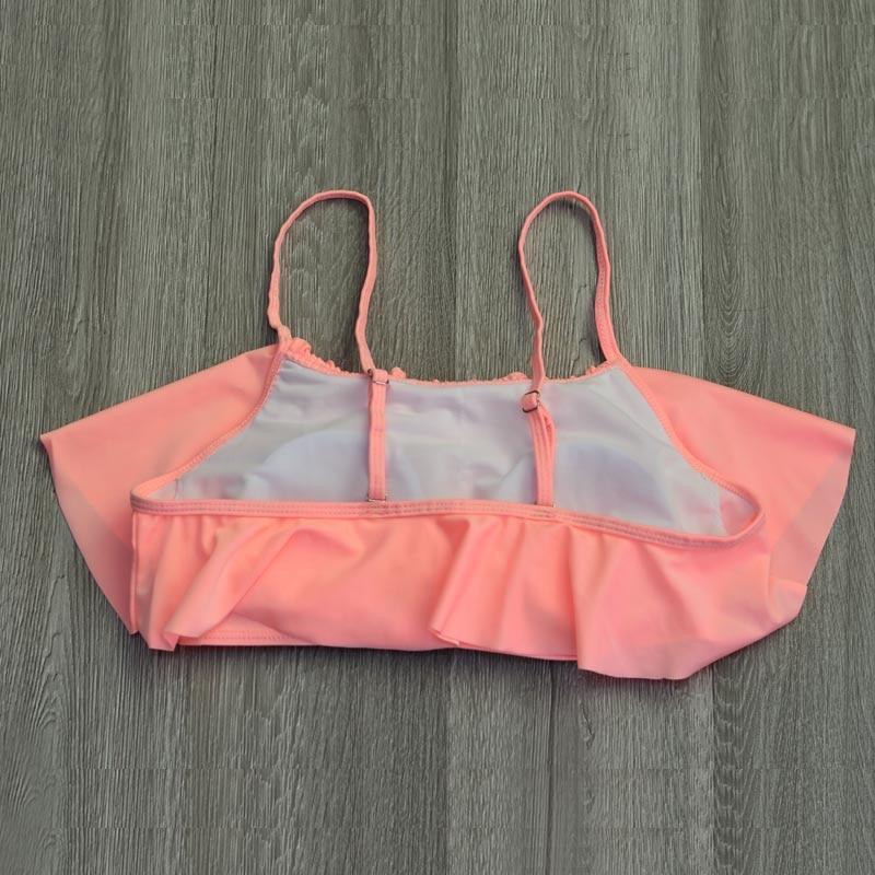 High Waist Swimwear Women New 2017 Ruffle Vintage Bikinis Swimsuit Bandage Striped Bottom Bathing Suits Swim Suit Biquini Female (3)