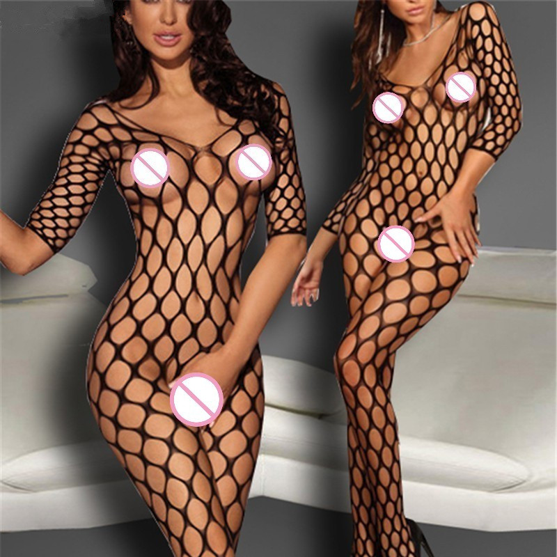 <font><b>Sexy</b></font> Erotic <font><b>Lingerie</b></font> For Women Hot Hollow Out Mesh Crotchless Sex Underwear Porno <font><b>Sexy</b></font> Costumes Lenceria <font><b>Sexy</b></font> Fishnet Babydoll image
