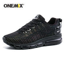 ONEMIX Running Shoes For Men Air Mesh Reflective Upper Material Cushion Athletic Trainers Sports Outdoor Shoes Walking Sneakers onemix new men air running shoes for women brand breathable mesh walking sneakers athletic outdoor sports training shoes
