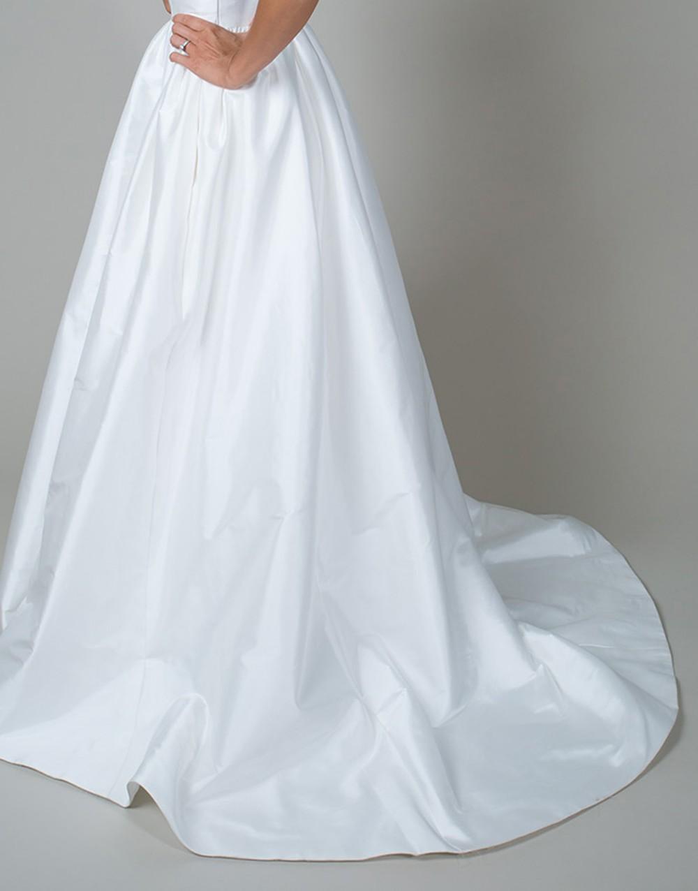 Vintage long white summer boho beach wedding dress with pockets 2015 v neck see through bridal gowns vestidos de noiva UD-442 6