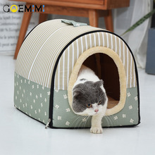 Dog Bed Winter Warm Kennel For Pet Puppy Nest Cat Sleeping Bag cama para cachorro House for cats house bed