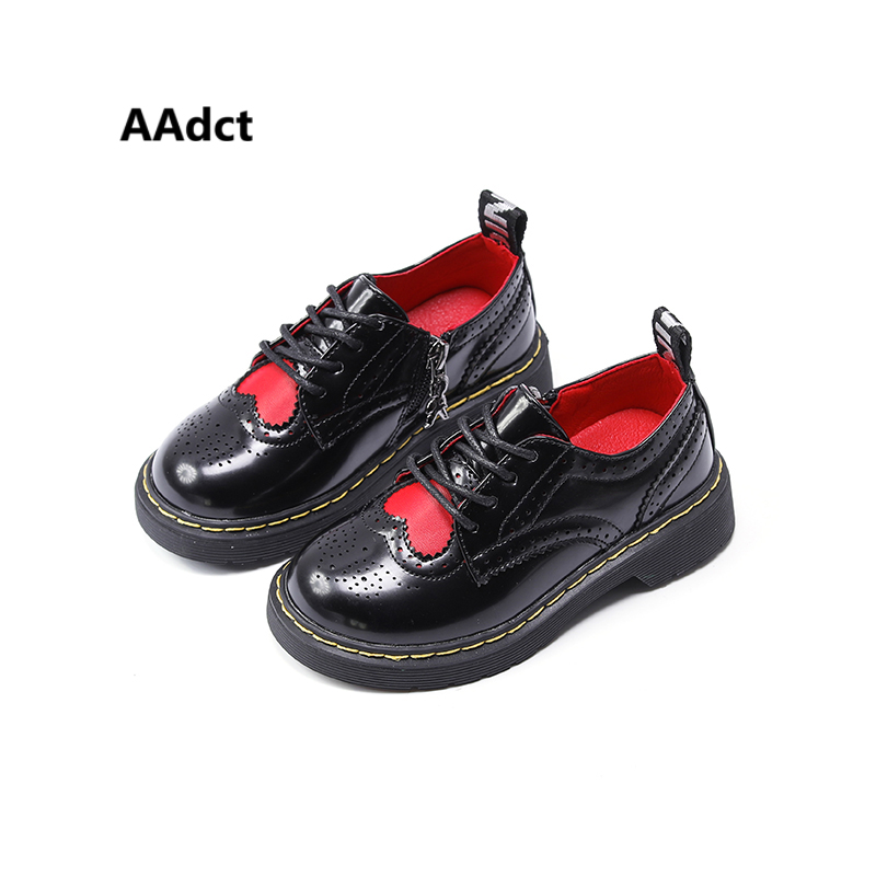 AAdct 2018 children shoes for girls New fashion spring autumn kids shoes Brand High-quality love leather toddler baby shoes