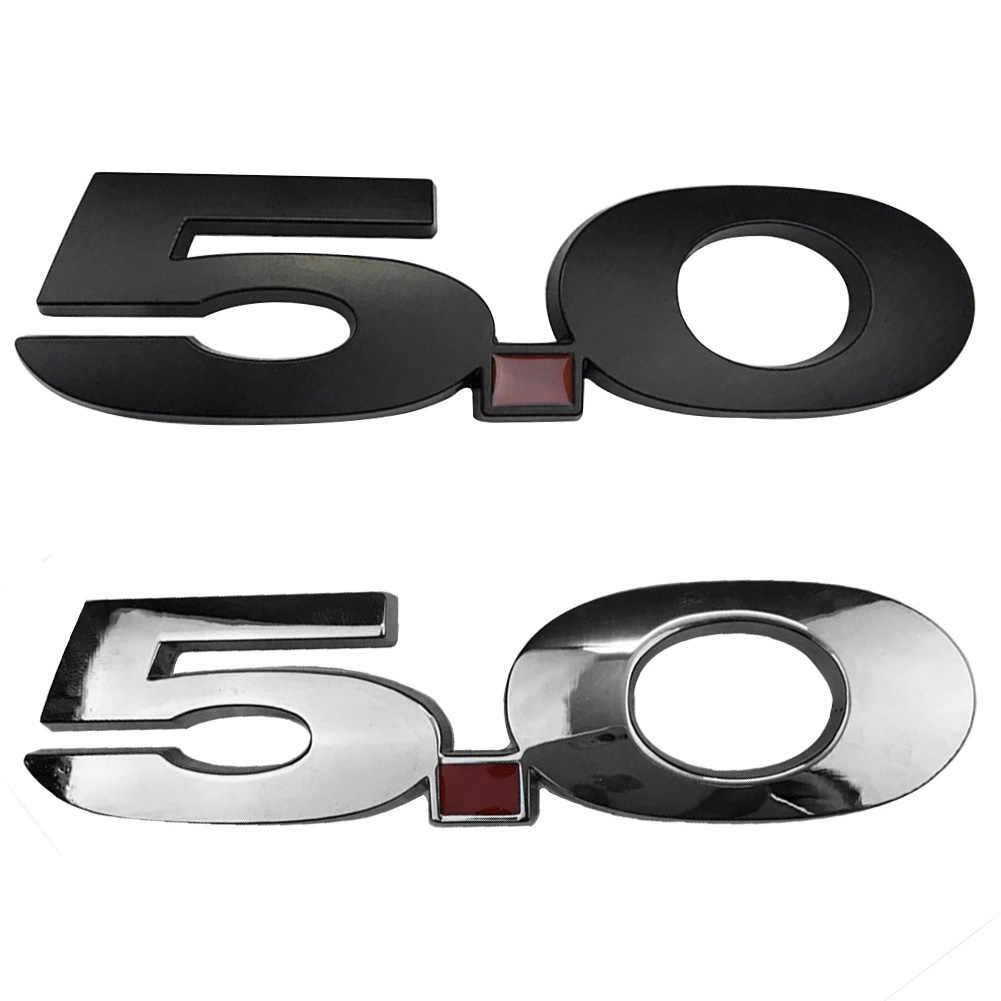 Nieuwe Galvaniseren Auto 5.0 Ontlading Label Zijdig Badge Decoratie Voor Ford Mustang