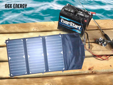 21 Watt Folding Solar Panel with 10 Amp Solar Controller+12V Car/Boat/Yacht/Jetski Battery Charger+Phone/Laptop Charger