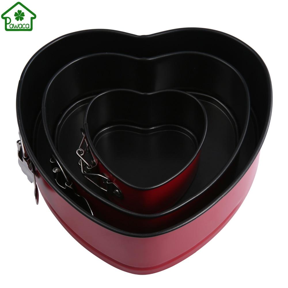 4 7 9 Inch Round Heart Shape Non Stick Springform Cake
