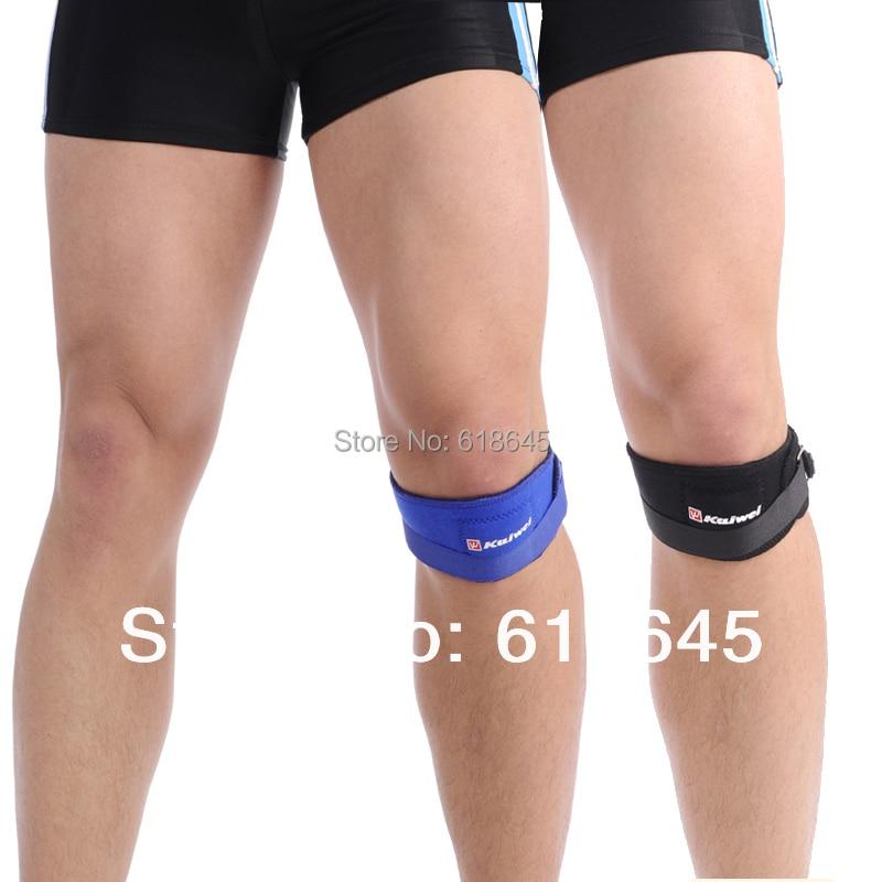 2 шт./лот Регулируемый Баскетбол Теннис наколенники коленной Поддержка Ремень Brace протектор Защита спортивный инвентарь Фитнес L152